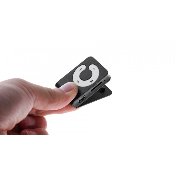 """""""C"""" Keys Rectangular Shaped Clip MP3 Music Player with Circle Operation Pad and microSD Card Slot"""