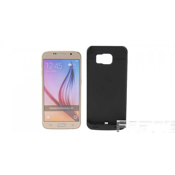 """""""4200mAh"""" Rechargeable External Battery Back Case for Samsung Galaxy S6"""