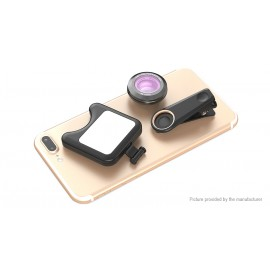Apexel Clip-on Selfie LED Fill Light w/ Wide Angle Macro Lens