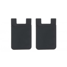 Silicone Stick-on Cell Phone Card Holder (2-Pack)